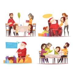 christmas 2x2 design concept vector image