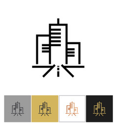 city icon urban living sign or metropolitan vector image