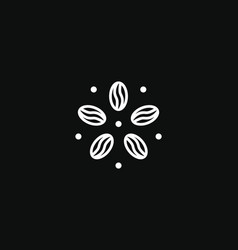 Coffee round logo modern concept coffee bean vector