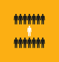 Dare to be different silhouette of people vector