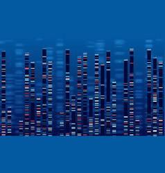 Dna data chart medicine test graphic abstract vector