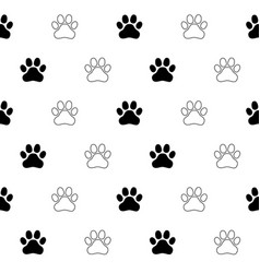 dog paw cat paw kitten seamless vector image