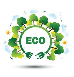 Eco plug 2 vector