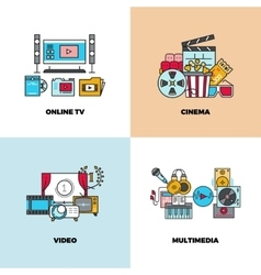Entertainment cinema movie video concept vector image