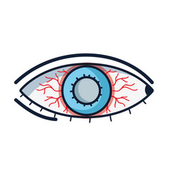 Eyes with conjunctivitis sickness and infection vector