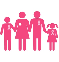 Family of a breast cancer survivor vector