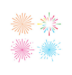 Fireworks graphic design template isolated vector