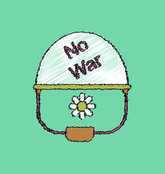 Flat shading style icon no war military helmet vector