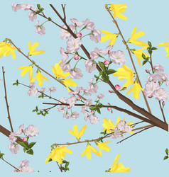 Floral seamless patternbeautiful spring background vector