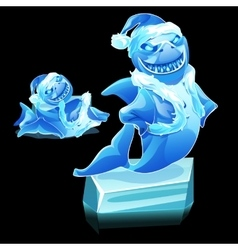 Funny shark figure made of ice vector image
