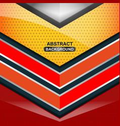 geometric orange background design vector image