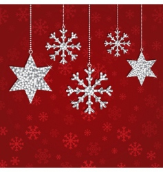 glitter decorations vector image