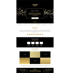 Golden minimalistic landing page vector image