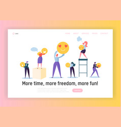 Good teamwork organization concept landing page vector