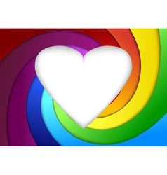 Heart on a rainbow - valentine background vector