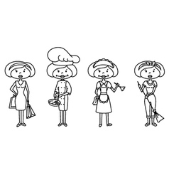 housewife sketches vector image