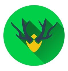 Icon deers antlers vector