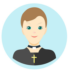 Icon man priest in a flat style image on a vector