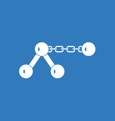 Icon molecule on the chain vector
