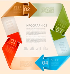 Info graphics banner with numbers Modern design vector image