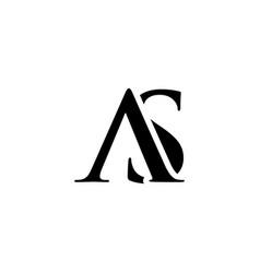 initial as alphabet logo design template vector image