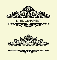Label ornaments 1 vector image