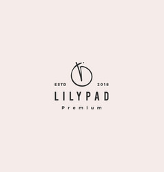 lily pad logo icon vector image
