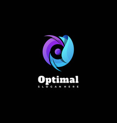 Logo optimal gradient colorful style vector