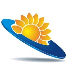 Logo sun disc vector