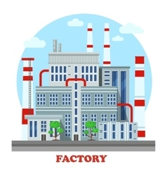 Manufacturing plant or factory with pipes vector image