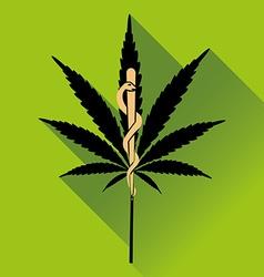 Medical marihuana new logo vector