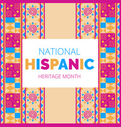 National hispanic heritage month celebrated from vector