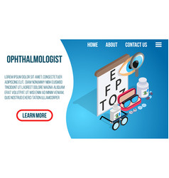 ophthalmologist concept banner isometric style vector image
