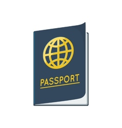 Passport id document vector