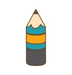 Pencil equipment icon vector