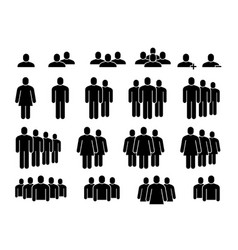 people icons human community group people crowd vector image
