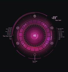 Pink hud vector