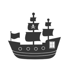 Pirate boat isolated icon graphic design vector image