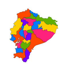 Political map of ecuador vector