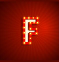 Retro style letter f vector