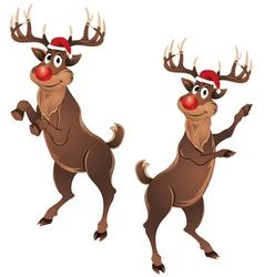 Rudolph The Reindeer Dancing vector image
