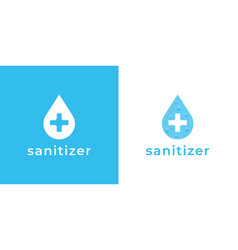 sanitizer water drop label icon vector image