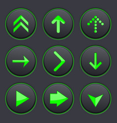 Set black buttons round plastic matted buttons vector