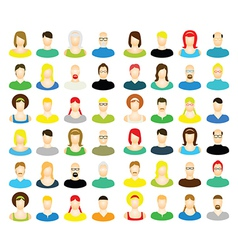 Set of people vector