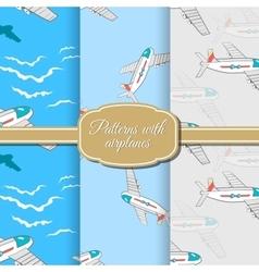 SetAirplanePattern vector image