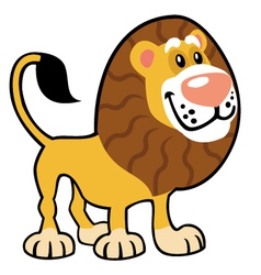 simple childish lion vector image