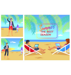 summer the best season cute vector image