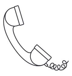 Telephone phone isolated icon vector
