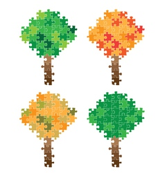 tree puzzle vector image
