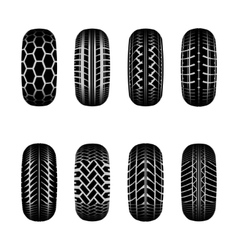 Trucks tire tracks vector